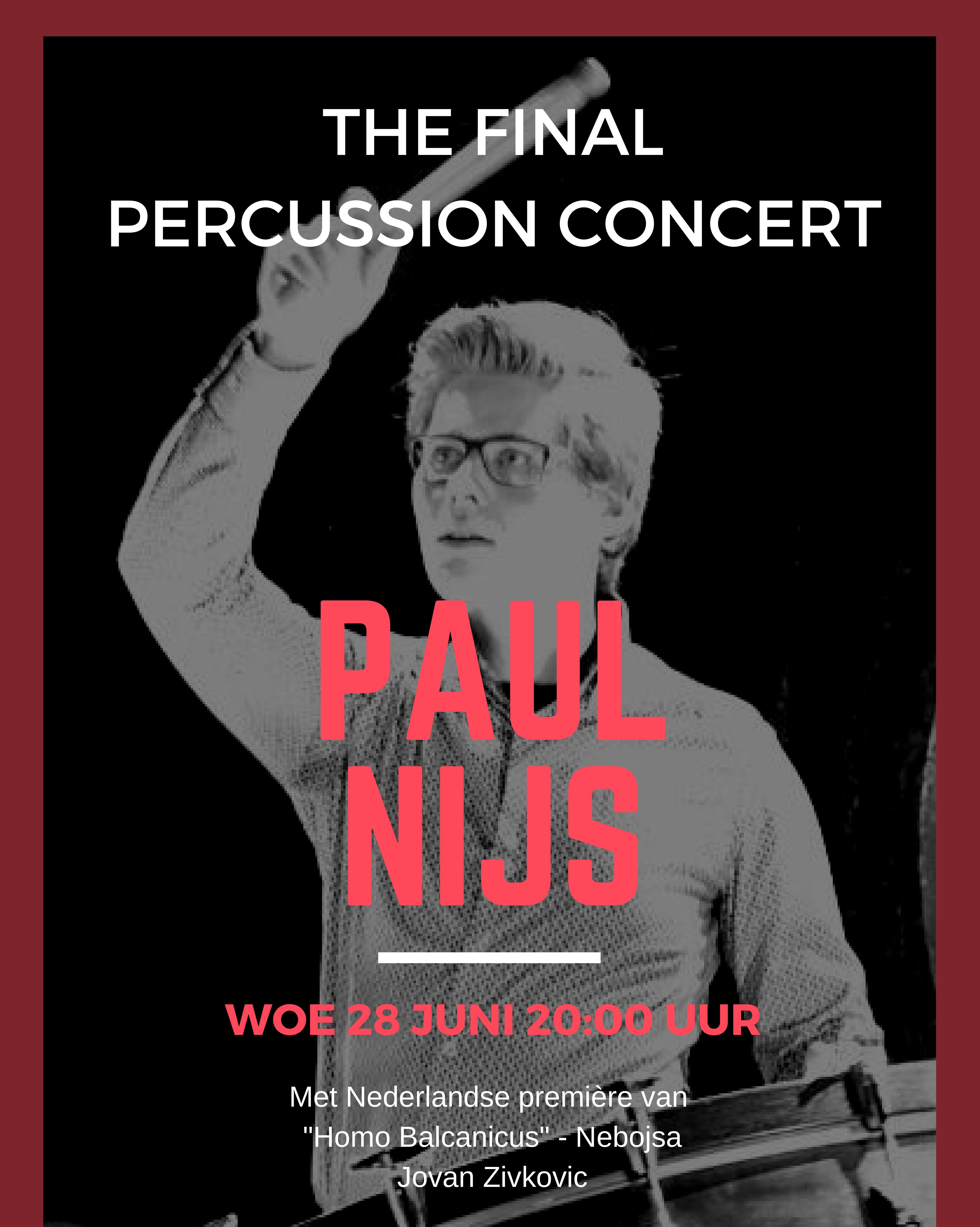 Poster Final Percussion Concert 2