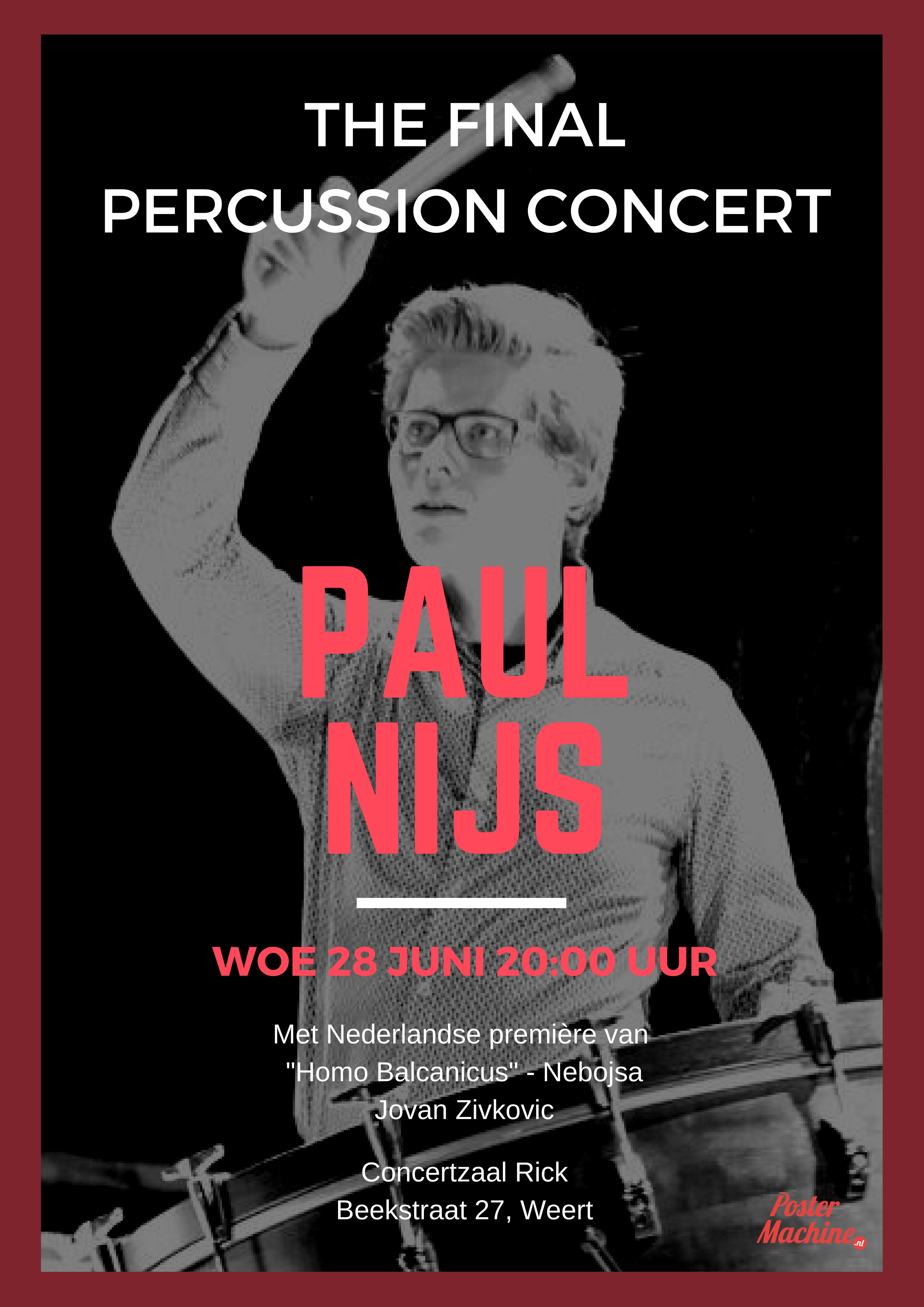 Poster Final Percussion Concert
